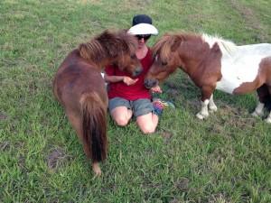 Jenny and her mini horses